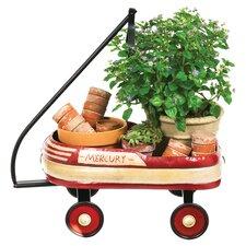 Vintage Oval Wheelbarrow Planter