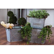 3 Piece Rectangular Pot Planters Set