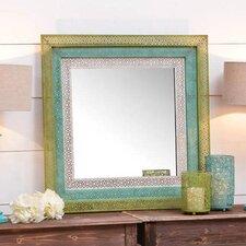 Pierced Metal Square Wall Mirror
