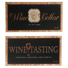 Piece Wall Linen Prestige Wine and Good Wine Tasting by Devon Ross Textual Art on Canvas Set