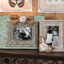 2 Piece Vintage Wooden Photo Frame Set
