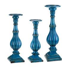 3 Piece Resin Candlestick Set (Set of 3)