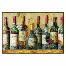 Wine Collection I by NBL Studio Framed Painting Prints on Canvas