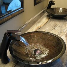 Laghetto Glass Vessel Bathroom Sink