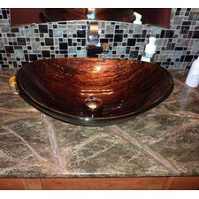 Volle Slipper Glass Vessel Bathroom Sink
