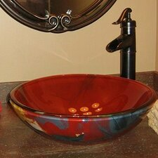 Asiatico Glass Vessel Bathroom Sink
