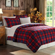 Plaid Microfiber Comforter Set