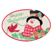 Holly Berry Snowman Sentiment Tray