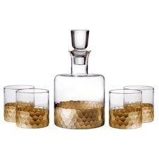 Daphne Fitz and Floyd 5 Piece Decanter and Glass Set