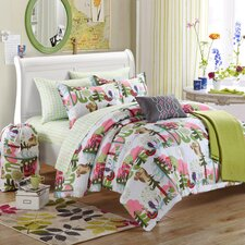 Forest Owl 5 Piece Full/Queen Comforter Set