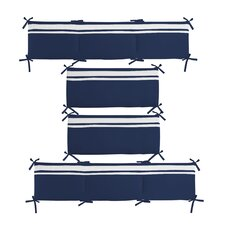 Connor Navy Solid Reversible Bumper
