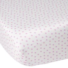 Audrey Pink Dottie Crib Fitted Sheet