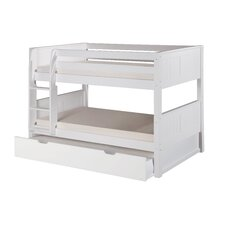 Camaflexi Low Twin Bunk Bed with Twin Trundle
