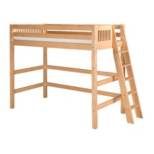 Loft Bed with Lateral Ladder and Mission Headboard