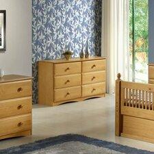 Essentials 6 Drawer Double Dresser