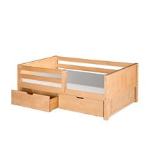 Panel Day Bed with Front Guard Rail with Drawers