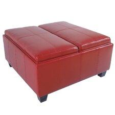 Elegant Leather Storage Ottoman
