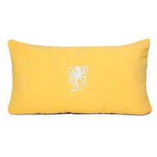 Octopus Beach Outdoor Sunbrella Lumbar Pillow