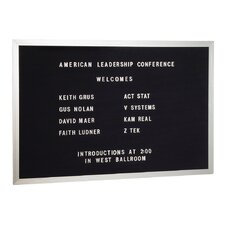 Open Face Wall Mounted Letter Board, 2' x 3'