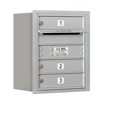 4C Horizontal Mailbox 5 Door High Unit Single Column 3 Doors Rear Loading Private Access