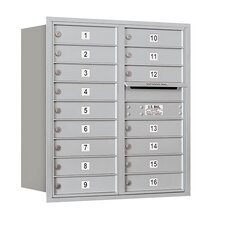 4C Horizontal Mailbox 9 Door High Unit Double Column 16 Doors Rear Loading Private Access