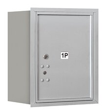 4C Horizontal Mailbox 5 Door High Unit Single Column Stand-Alone 1 Parcel Locker Rear Loading Private Access