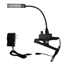 "LED Gooseneck Music Stand Inspection Reading Clip-on Light 2.5"" H"