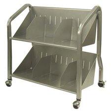 2 Shelf Sloped Book Cart