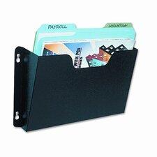 Dr. Pocket Steel Add-On/Single Pocket Wall File, Letter, Black