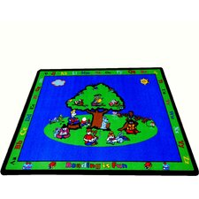 Blue Fun Learning Reading is Fun Area Rug