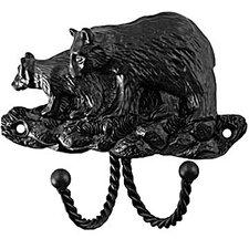 Decorative Wall Mounted Black Bear Hook