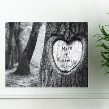 Personalized Gift Tree of Love Photographic Print on Canvas