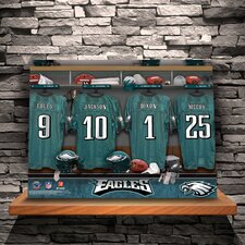Personalized Locker Room Print on Wrapped Canvas