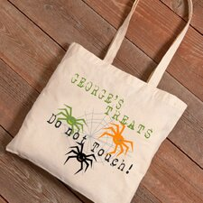 Personalized Halloween Trick-or-Treat Spiders Canvas Bag