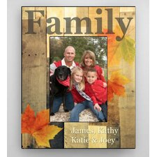 Personalized Family Leaves Fall Picture Frame