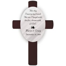 Personalized Gift Oval Wedding Cross This Day Poem Wall Décor