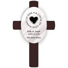 Personalized Gift Oval Wedding Cross Second Marriage Wall Décor