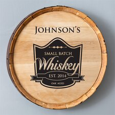 Personalized Gift Whiskey Barrel Sign Wall Décor