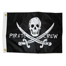 Pirate Heads 'Pirate Crew' Traditional Flag