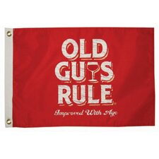 Old Guys Rule 'Improved with Age' Traditional Flag