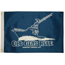 Old Guys Rule 'Powering Through Life' Traditional Flag