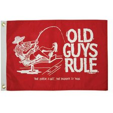 Old Guys Rule 'The Older I Get' Traditional Flag