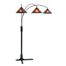 Mica 3 Light Arc Floor Lamp