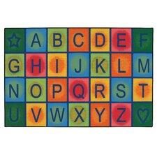 Simple Alphabet Blocks Kids Rug