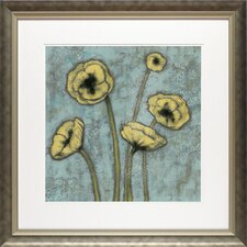 'Sun Poppies I' by Jennifer Goldberger Framed Painting Print