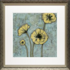 'Sun Poppies II' by Jennifer Goldberger Framed Painting Print