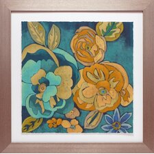 'Trousseau Chintz III' by Chariklia Zarris Framed Painting Print