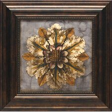 Custom Rosette Damask II by Jennifer Goldberger Framed Graphic Art
