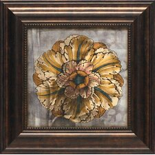 'Custom Rosette Damask I' by Jennifer Goldberger Framed Graphic Art