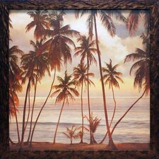 Palms on the Water I by John Seba Framed Photographic Print